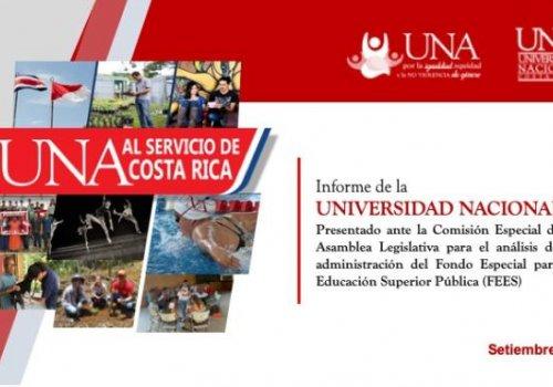 Rector de la UNA compareció ante Comisión Especial FEES de la Asamblea Legislativa