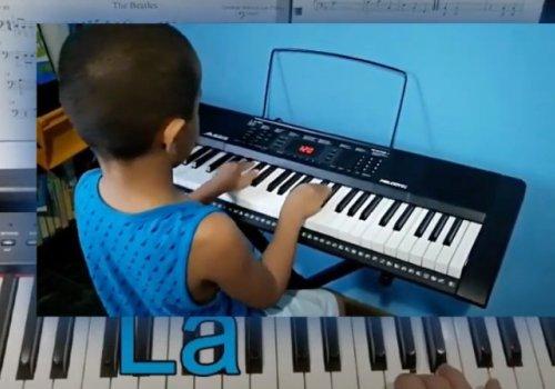 Por medio de la música infantes ahuyentan la pandemia