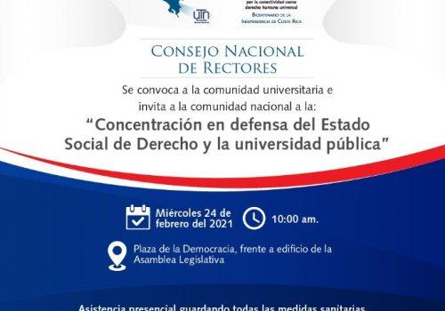 Defendamos el Estado Social de Derecho y la Universidad Pública