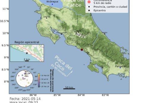 Detalle de sismo 14 de mayo 2021