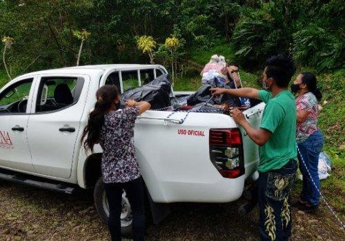 UNA inicia distribución de donativos a personas afectadas por inundaciones