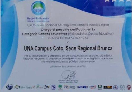 Bandera Azul para Campus Coto