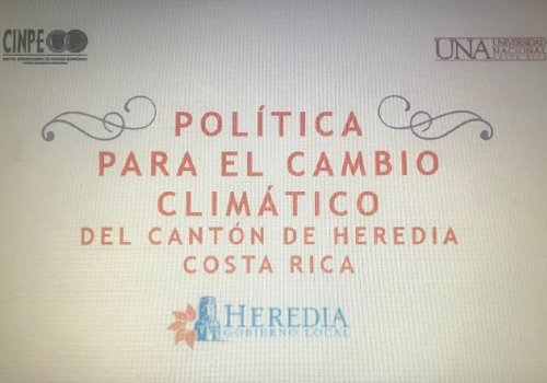 Cinpe y municipio herediano avanzan hacia carbono neutral