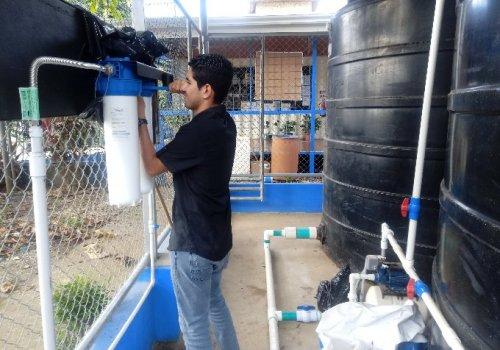 Brasilito cuenta con planta de captación de agua de lluvia