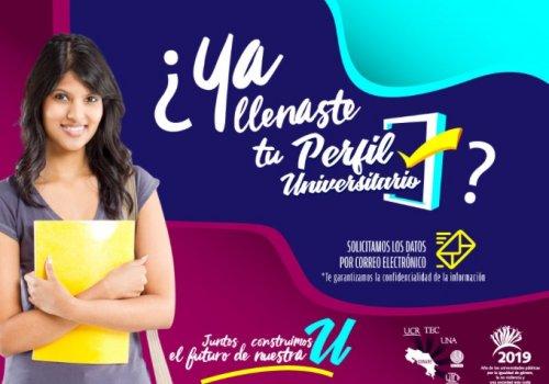 Estudiante de la UNA… ¡llená tu perfil universitario!