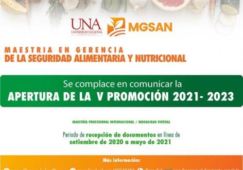 Abren V promoción en Gerencia de la Seguridad Alimentaria y Nutricional