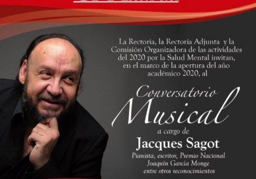 Jacques Sagot en conversatorio musical