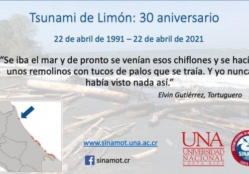 30 aniversario del terremoto y tsunami de Limón