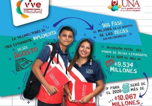 UNA fortalece becas para estudiantes  en vulnerabilidad socioeconómica