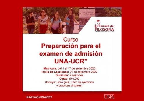 ¡Prepárese para el examen de admisión UNA-UCR!