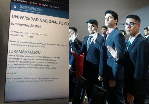 UNA realiza II graduación de 2020 vía web