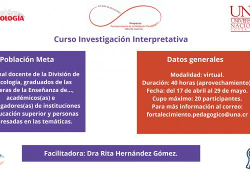 Educología imparte curso sobre investigación interpretativa