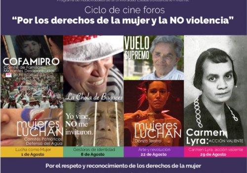 Con ciclo de cineforos UNA y UNED  promueven derechos de las mujeres