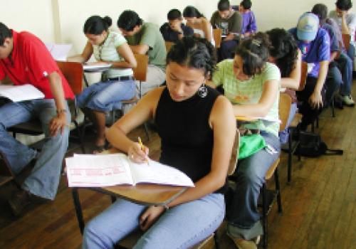 Arrancó prueba de admisión UNA 2012