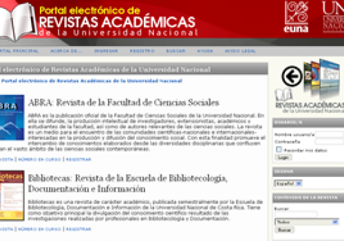UNA lanza portal digital de revistas académicas
